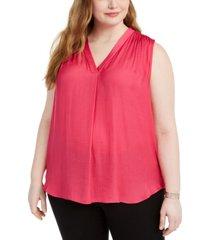 vince camuto plus size v-neck sleeveless blouse