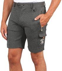 black bananas pantalon pocket short grijs