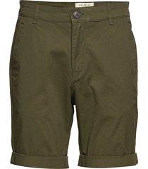 slhstraight-paris shorts w noos shorts chinos shorts grön selected homme