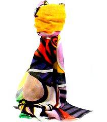 pashmina multicolor leblu dibujos
