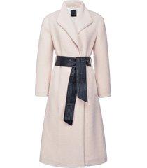 pinko tie-waist mid-length coat - white