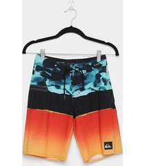 bermuda d'água infantil quiksilver youth masculina