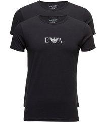 mens knit 2pack t-sh t-shirts short-sleeved svart emporio armani
