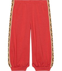 gucci red trousers