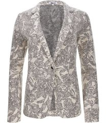 blazer estampado color blanco, talla 6