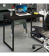 mesa escrivaninha office kuadra ônix 8395 - compace