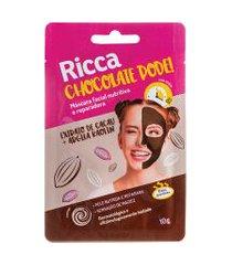máscara facial ricca nutritiva e reparadora chocolate pode! único