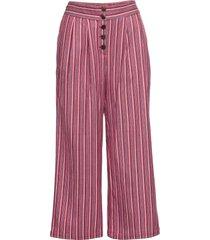 pantaloni a vita alta con bottoni (rosso) - rainbow