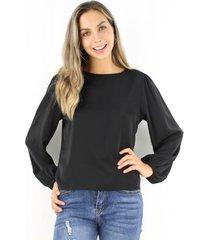 blusa violeta negra jacinta tienda