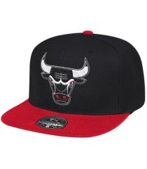 mitchell & ness chicago bulls wool 2 tone fitted cap
