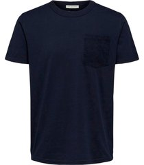 t-shirt slhregfestive cord ss o-neck tee w
