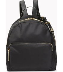 tommy hilfiger women's solid dome backpack tonal black -