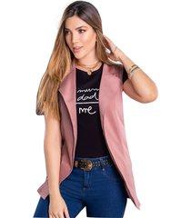 chaleco para mujer palo de rosa oscuro mp