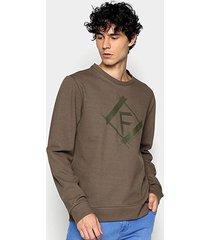 blusa moletom forum básica logo masculina