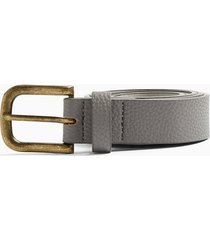 mens grey gray pu slim belt