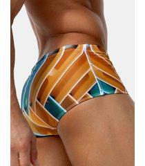uomo sexy shorts con stampa idrorepellenti da nuoto