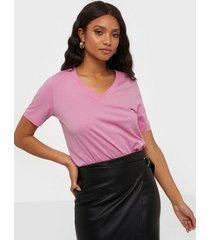selected femme slfstandard ss v-neck tee seasonal t-shirts