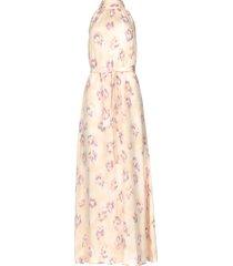 mouwloze maxi-jurk met print clerie  nude