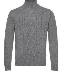 wool-blend mock-neck sweater knitwear turtlenecks grå banana republic