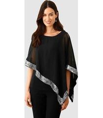 blouse paola zwart::goudkleur
