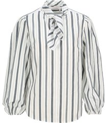 see by chloe neck-tie blouse