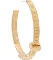 ambush asymmetric zip tie earrings - gold