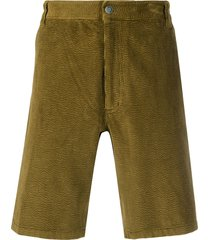 acne studios corduroy shorts - green