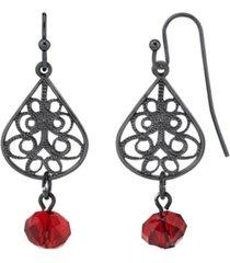 2028 silver-tone teardrop bead earring