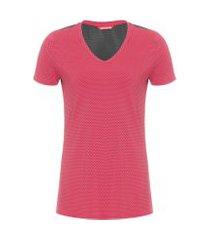 camiseta de manga curta com recortes essencials - vermelho