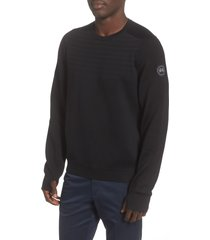 men's canada goose conway crewneck merino wool blend sweater, size medium - black