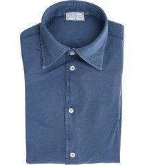 blue steve piquet giza cotton shirt