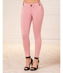 pantalon noelia rosa para mujer croydon
