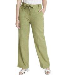pantalón lino verde lorenzo di pontti