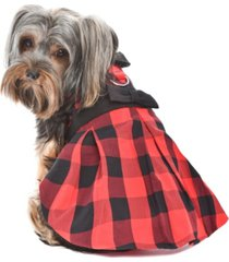 parisian pet buffalo checkered taffeta dog dress