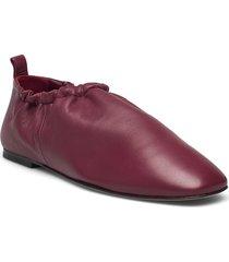 ssp1-t760nsl / rouched slipper loafers låga skor röd 3.1 phillip lim