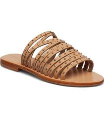 jenna studs shoes summer shoes flat sandals beige shoe the bear