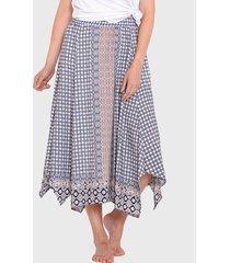falda wados azul - calce holgado