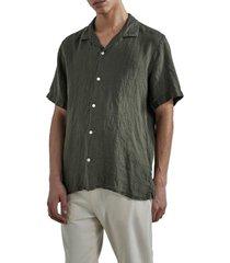 miyagi short linen shirt 5706
