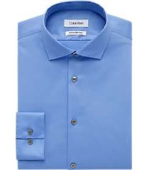 calvin klein infinite non-iron light blue extreme slim fit stretch dress shirt
