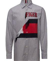 hcm frayed shirt overhemd casual wit hilfiger collection