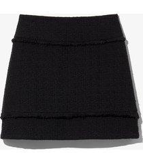 proenza schouler white label bouclé tweed mini skirt black 10