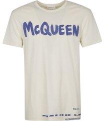 alexander mcqueen pain logo t-shirt