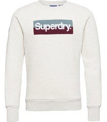 cl workwear crew sweat-shirt tröja vit superdry