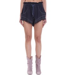 isabel marant talapiz shorts in blue polyester