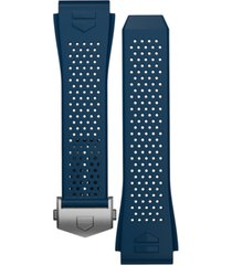 tag heuer connected blue perforated rubber smart watch strap