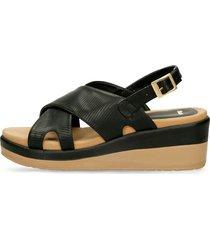 sandalias de plataforma negro bata xilurte r mujer