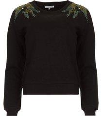 sweater met pailletten felpa  zwart