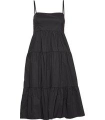 elena dress jurk knielengte zwart twist & tango