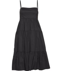 elena dress jurk knielengte zwart twist & tango