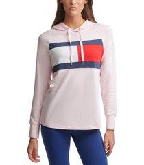 tommy hilfiger sport colorblock lightweight flag t-shirt